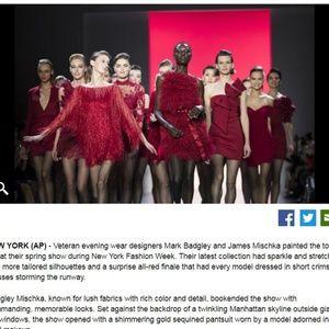Badgley Mischka Runway Crimson Snapshot Dress